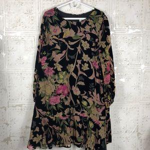 Eliza J | Velvet Floral Dress